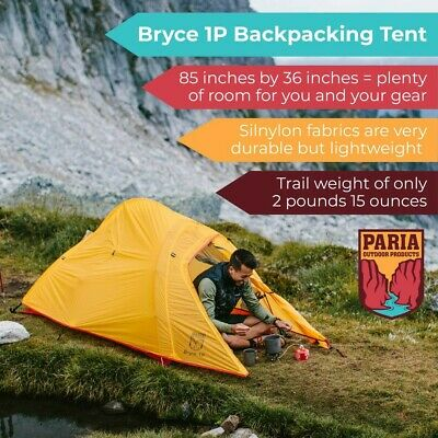 Paria Outdoors 1 Person Lightweight Tent  - Used