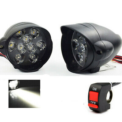 2X 30W BRIGHT LED MOTORCYCLE 18 LEDS FOG LIGHT SPOT BEAM LAMP 3000LM W
