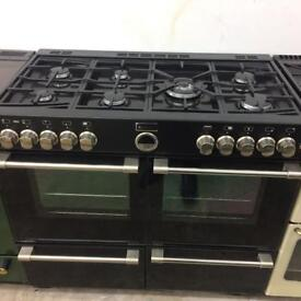 Black stoves 100cm gas cooker grill & double ovens good condition with guarantee bargain