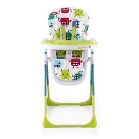 Cossato high chair monster mash 2 new in box £80