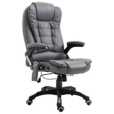 vidaXL Kantoorstoel Massage Kunstleer Antraciet Kantoorstoelen Massagestoel