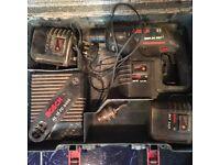 BOSCH 24V CORDLESS SDS DRILL 3 BATTERYS