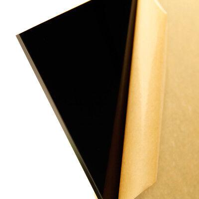 18 3mm Black Acrylic 12x12 Plexiglass Cast Sheet Opaque Glossy Azm
