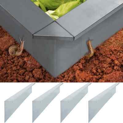 vidaXL 4x Snail Fence Plates Galvanised Steel 170cm Garden Fence Edging Walls