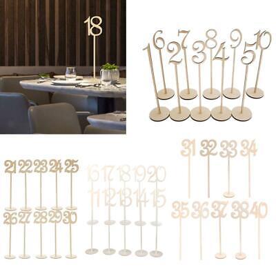 Vintage Wood Table Numbers 1 to 40 Wedding Birthday Party Table Marker Decor - Wood Table Numbers