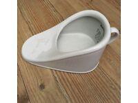 White ceramic The New Slipper bed pan