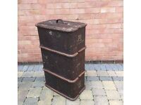 TRUNK - Gentleman's travelling trunk- probably 1930's/1940's