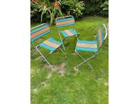 Vintage 3 original fold up garden/picnic chairs- PENDING COLLECTION