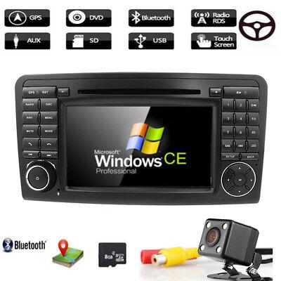 "7"" Autoradio DVD GPS Bluetooth+Kamera für Mercedes Benz X164 W164 ML GL Navi"