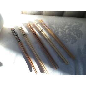 5 pairs of Bamboo chopstick brand-new