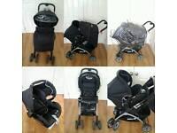 Baby stroller (pram) with car seat