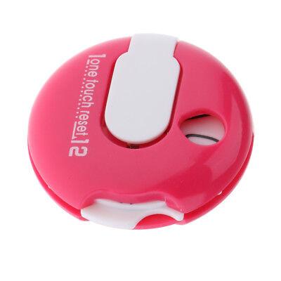 Mini Golf Score Counter Scorekeeper Scoring Tool Clip On Glove or Bag Pink