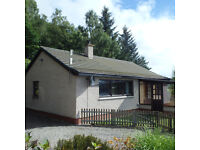 2 Bedroom unfurnished bungalow with views over Loch Ness. Inverness 8 miles.