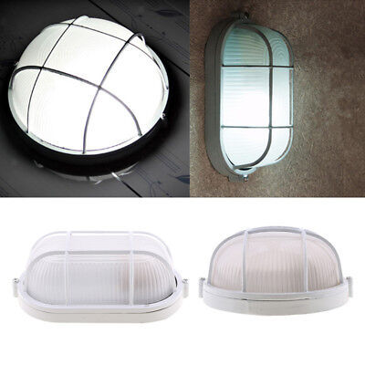 Oval and Round Sauna Light Lamp Metal Lampshade White 45W Explosion-proof