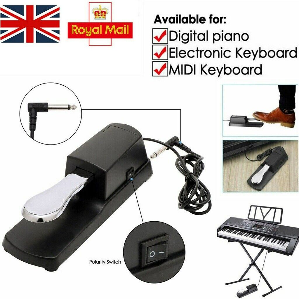 Keyboard Damper Digital Piano Sustain Pedal Foot Damper for Electronic Pianos