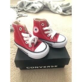 Baby red converse size 2