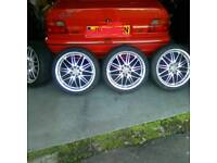 17 inch wolfrace alloys with near new tyres