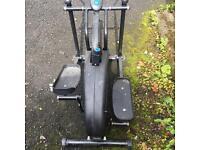 Exercising cross running machine.