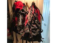 2 X Backpack 1 large X 1 Medium