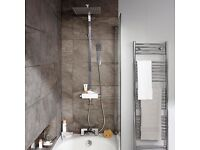 Cooke & Lewis Tidal Chrome Thermostatic Bar Mixer Shower with Diverter NEW.