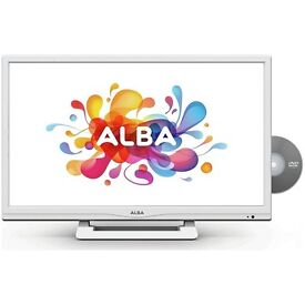 "White Alba 24"" Inch HD Ready Freeview LED TV DVD Player Combi USB PVR HDMI 12 Months Warranty"