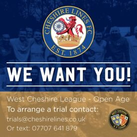 CHESHIRE LINES FC | LOOKING FOR PLAYERS