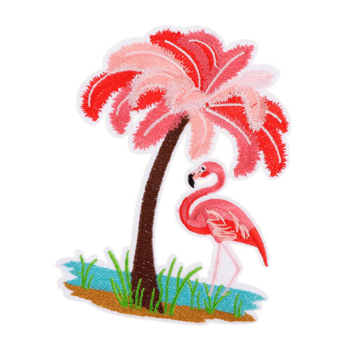 tropische Flamingo Stickerei Patch Kleidung Stoff Applikation Aufkleber DIY