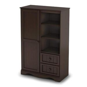 New, Slight Damaged Box, South Shore Furniture Savannah Collection Door Chest, Colour: Espresso (Pick Up Only) - DI0