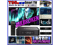 T95 FULLY LOADED✔️64 bit 2Ghz✔️KODI✔️1080P & 4k HD✔️LIVE TV✔️TV SHOW✔️KIDS TV