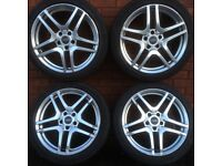 18 inch Audi A3 A4 A6 alloy wheels & tyres vw passat seat altea skoda superb octavia alloys rims