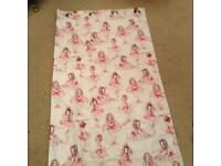 Beautiful ballerina blackout lined, full length curtains