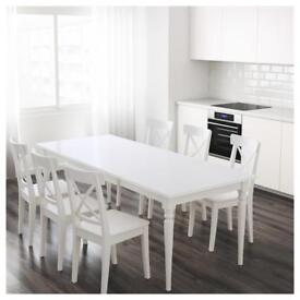 Dinning table & set of 4 chairs