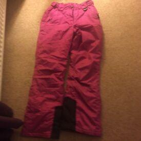 Crane Snowboard Ski Trousers Size small 25 - 27 waist