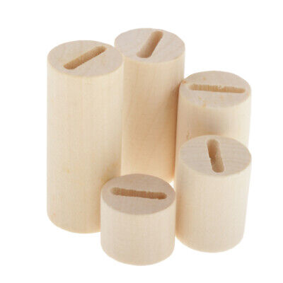 5 Lot Wooden Ring Jewelry Display Holder Storage Box Square Stand