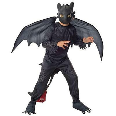 TOOTHLESS Halloween Costume How To Train Your Dragon 2 3 Night Fury S 4/6 SMALL  - Night Fury Costume
