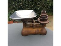 Vintage greengrocer weighing scales