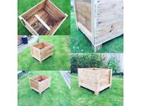 Wooden planter or storage box