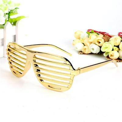 Novelty Gold Shutter Shades Designed Sunglasses Funny Party Eyewear Props