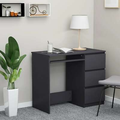 Vidaxl Desk Gray Chipboard Computer Laptop Office Corner Study Table Furniture