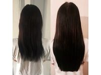 Hair extension Technician offering three methods, Micro Links - Tape hair - Micro Ring Weft
