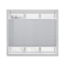 Casa Pura Semi-Translucent Pleated Blind, Plissee Magic - Light Grey, 120 x 200 cm