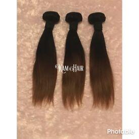 "3 bundles 10"" Straight Human Hair"