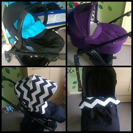 Mamas & papas sola 2 with carseat and carrycot *excellent condition*