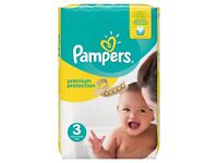 Pampers pack of 204 nappies (size 3) - new and unopened