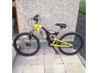 "Boys 20"" Titan Impact 18 gear dual suspension mountain bike"