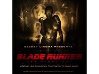 Secret Cinema - Blade Runner The Final Cut Saturday 9th June (x2 tickets)