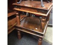 A pair of fruitwood side tables