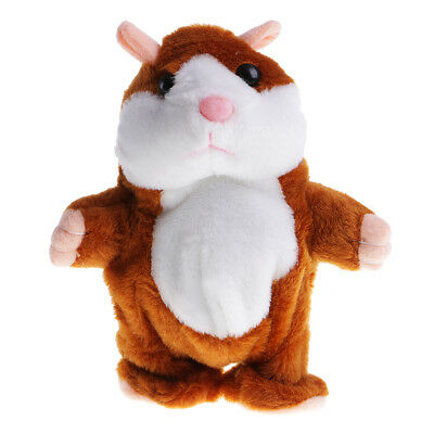 Voice Imitate Sound Recorder Walking Hamster Light Brown for Kids Education