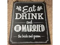 New wedding sign for sale
