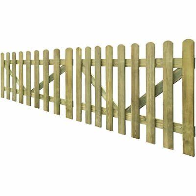 vidaXL Picket Fence Gate 2 pcs 300x100 cm FSC Impregnated Wood